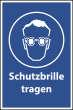 Arbeitsschutz #Schild -500#- Schutzbrille
