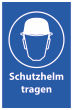 Arbeitsschutz #Schild -501#- Schutzhelm