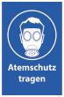 Arbeitsschutz #Schild -502#- Atemschutz
