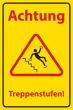 Arbeitsschutz #Schild -505#- Treppenstufen