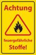 Arbeitsschutz #Schild -507#- Feuergefahr
