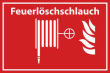 Arbeitsschutz #Schild -510#- Feuerlöschschlauch