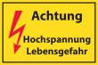 Arbeitsschutz #Schild -513#- Hochspannung