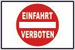 Ein- Ausfahrt Schild Schilder -134#- Klassisch