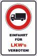 Ein- Ausfahrt Schild Schilder -137#- LKW