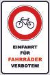 Ein- Ausfahrt Schild Schilder -140#- Fahrrad