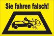 Ein- Ausfahrt Schild Schilder -144#- Sie fahren falsch!