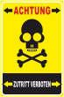 Betreten verboten #Schild -211#- Totenkopf