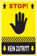 Betreten verboten #Schild -212#- Stop Hand