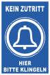 Betreten verboten #Schild -215#- Bitte klingeln
