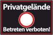 Betreten verboten #Schild -540#- Privatgelände