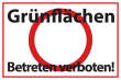 Betreten verboten #Schild -541#- Grünflächen