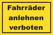Fahrrad Schild -5331#- Gelb