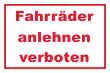 Fahrrad Schild -5332#- Rot weiß
