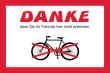 Fahrrad Schild -5333#- Danke