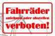 Fahrrad Schild -5334#- Grafik