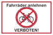 Fahrrad Schild -5336#- Parkverbot