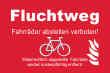 Fahrrad Schild -5339#- Fluchtweg