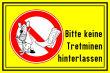 Hundeschild# -11#- Keine Tretminen hinerlassen
