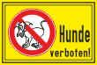 Hundeschild# -14#- Hunde verboten