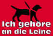 Hundeschild# -717#- Leine