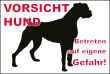 Hundeschild# -725#- Boxer