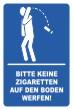 Keine Kippen wegwerfen #Schild -242#- Symbol 2