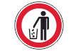 Müll abladen verboten #Schild -180#- Eimer Symbol