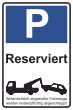 Parkverbot #Parken verboten Schild Schilder -30#- Reserviert