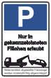 Parkverbot #Parken verboten Schild Schilder -38#- Nur in gekennzeichneten...