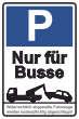 Parkverbot #Parken verboten Schild Schilder -46#- Nur für Busse