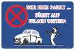 Parkverbot #Parken verboten Schild Schilder -59#- Lust auf Felgenfahrt?