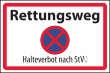 Parkverbot #Parken verboten Schild Schilder -60#- Rettungsweg StVO