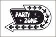 Party #Schild -225#- Partyzone Pfeile