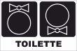 WC / Toiletten #Schild -103#- Schleife und Fliege