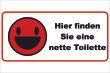 WC / Toiletten #Schild -110#- Nette Toilette