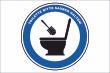 WC / Toiletten #Schild -115#- Toilette sauber halten