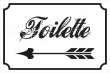 WC / Toiletten #Schild -122#- Toilette links