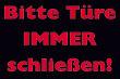 Tür / Tor #Schild -1560#- Türe schliessen