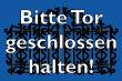 Tür / Tor #Schild -1565#- Gartentor