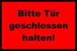 Tür / Tor #Schild -1571#- Tür rot