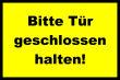 Tür / Tor #Schild -1572#- Tür gelb