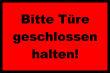 Tür / Tor #Schild -1574#- Türe rot