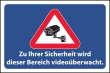 Videoüberwachung #Schild -64#- Bereich