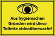 Videoüberwachung #Schild -65#- Toilette