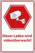 Videoüberwachung #Schild -72#- Laden