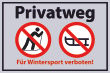 Winter Winterdienst #Schild -648#- Wintersport verboten