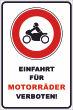 Ein- Ausfahrt Schild Schilder -139#- Motorrad