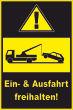 Ein- Ausfahrt Schild Schilder -156#- Gelb Schwarz