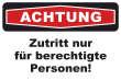 Betreten verboten #Schild -214#- Achtung